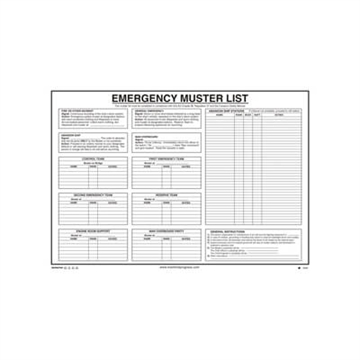 125.251 Emergency Muster List