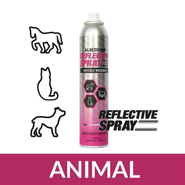 Stor 200 ml. Albedo100 Reflekterende Spray ANIMAL til pels (dyr)