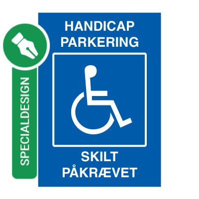 handicap parkering skilt