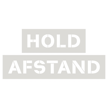 Hold afstand stencil skabelon, Plast, 340 x 830 mm
