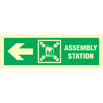 Assembly station arrow left