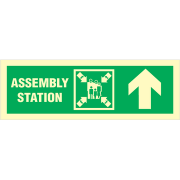 Assembly station arrow up
