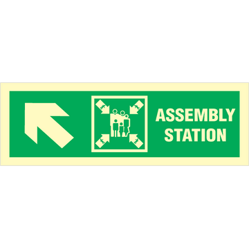 Assembly station arrow up to corner