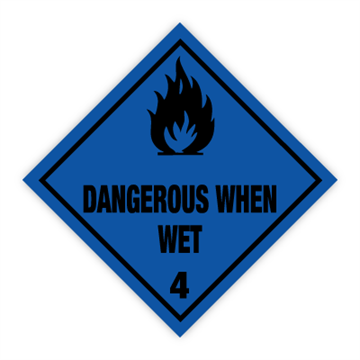 Dangerous when wet - Faresedler kl 4