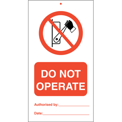 Do not operate (pk.á 10 stk.)