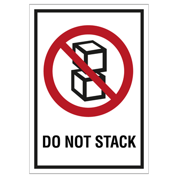 Do not stack etiketter - 250 stk. rulle - Selvklæbende vinyl - (A7) 105 x 74 mm