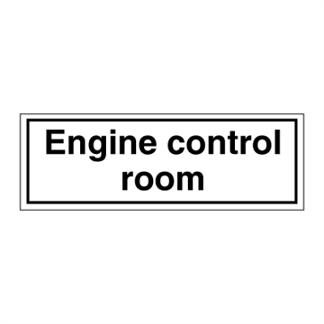 Engine control room - ISPS Code Signs