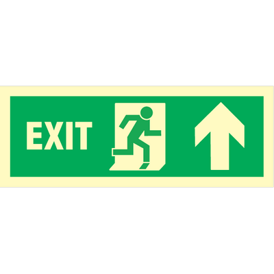 Exit right arrow up
