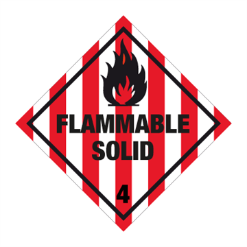 Flammable solid - Faresedler kl 4