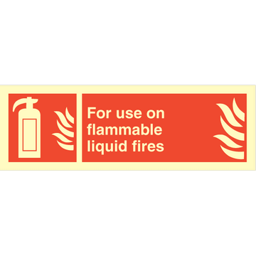 For use on flammable..