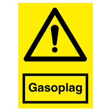 Gasoplag - advarselsskilte