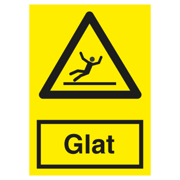 Glat gulv - advarselsskilte
