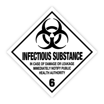 Infectious substance - Faresedler kl 6