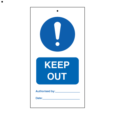 Keep Out (packed in 10) - Tie Tags