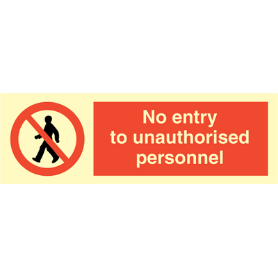 no unauthorised entry sign pdf