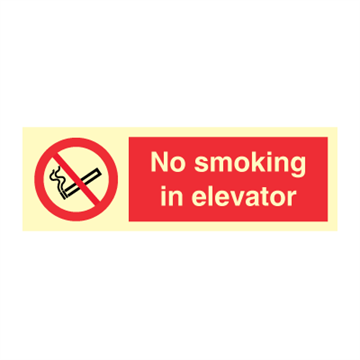 No smoking in elevator - Prohibition Signs