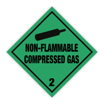 Non Flammable compressed gas - Faresedler kl 2