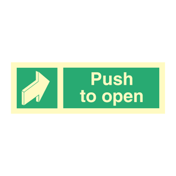 Push to open - direction signs