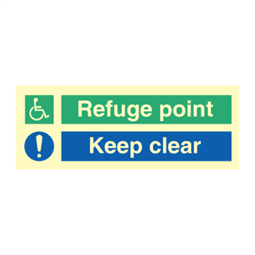 Refuge point - Clear point - Direction signs
